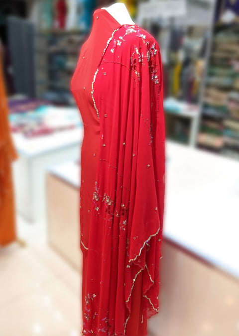 Unstitched Crepe with Heavy Dupatta Suit - Memsaab Online
