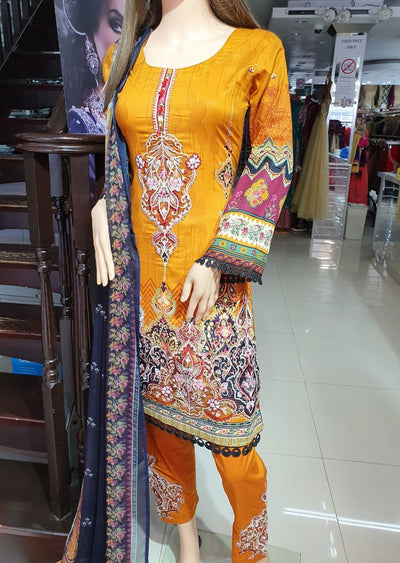 SD02 Readymade Lawn Embroidered Suit - Memsaab Online
