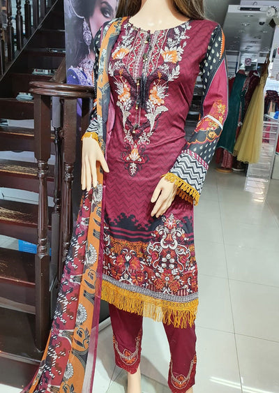 SD03 Readymade Lawn Embroidered Suit - Memsaab Online