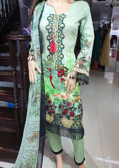 SD06 Readymade Lawn Embroidered Suit - Memsaab Online