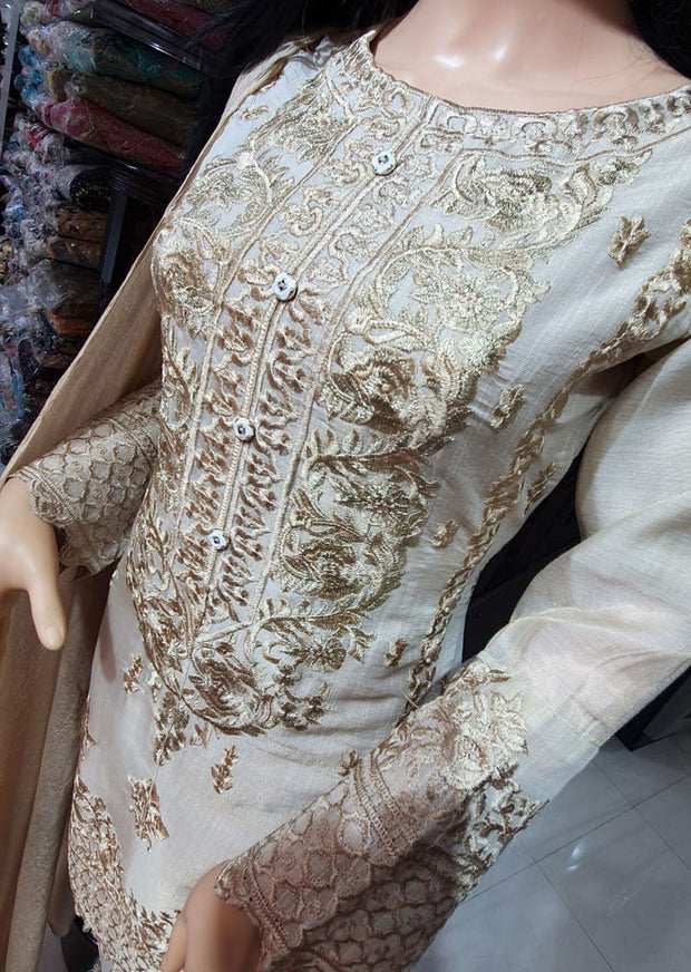 SDQ03 Readymade Masuri Gold Embroidered Suit - Memsaab Online