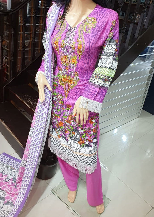 SDQ24 Readymade Pink Linen Suit - Memsaab Online