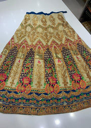 SHB6212- A Purple Embroidered Multicolour Skirt - Memsaab Online