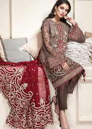 Sherene - JAZMÍN Unstitched Amerrati Embroidered Chiffon Collection 2020 - Memsaab Online