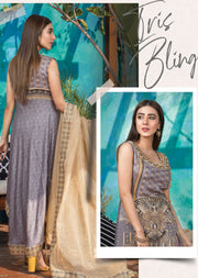 Tris Bling - Ready to Wear Embroidered Linen Suit - Crisanthe by Sofia Khas - Memsaab Online