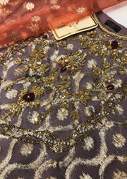 AGH11 Lilac Agha Noor Jammawar Embroidered 2 Piece Suit - Memsaab Online