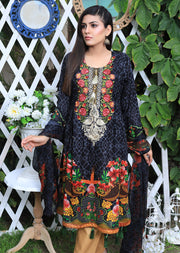 AMT1005 - Black - PREMIUM - Readymade Pakistani Memsaab Designer Embroidered Lawn Suit - 2019 Vol 2 - Memsaab Online