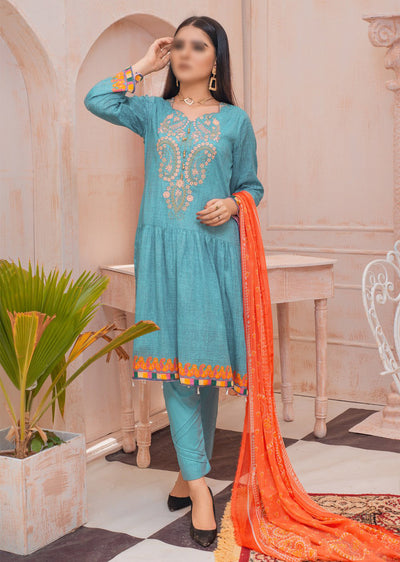 AMT20035 - Readymade Embroidered LawnDress - Memsaab Online