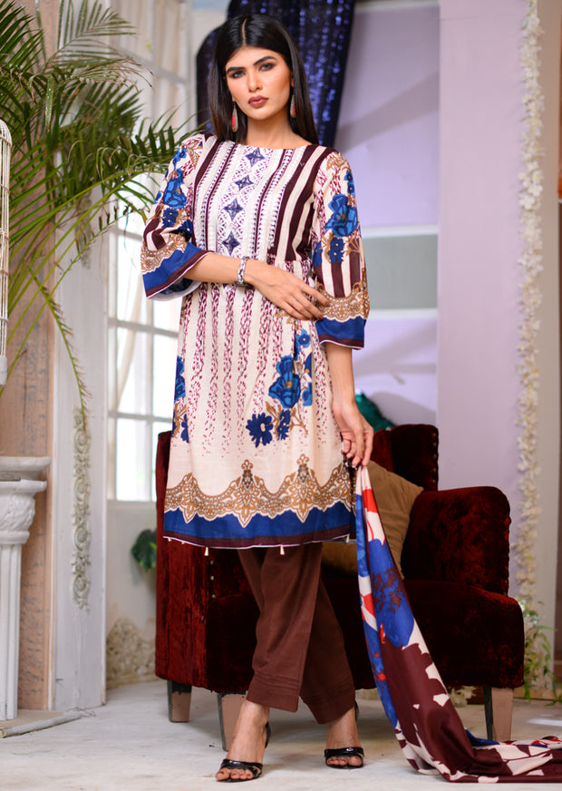 Brown - Readymade Winter Khadder - Pakistani Designer - Memsaab Online
