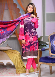 AMT1501 - Purple - Readymade Winter Khadder - Pakistani Designer - Memsaab Online