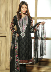 AMT710 - Moonlight - Black - Lawn 2019 Vol 1 - Memsaab Online