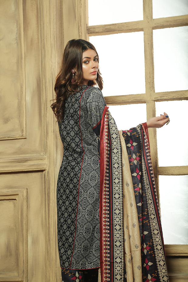 647cf2d4fb AMT711 - Midnight Elegance - Readymade Pakistani Lawn Suit - Blue - Lawn  2019 Vol 1