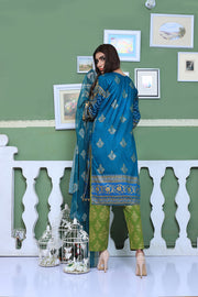 AMT801 - Blue - Readymade Pakistani Memsaab Designer Embroidered Lawn Suit - 2019 Vol 2 - Memsaab Online