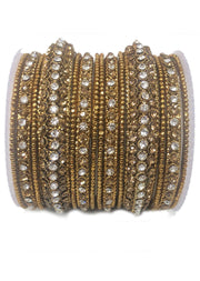 BD7 Antique/diamante Bangle Set - Memsaab Online