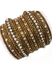 Antique/diamante Bangle Set - Memsaab Online
