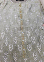 MRS01 Readymade Beige Summer Suit - Memsaab Online