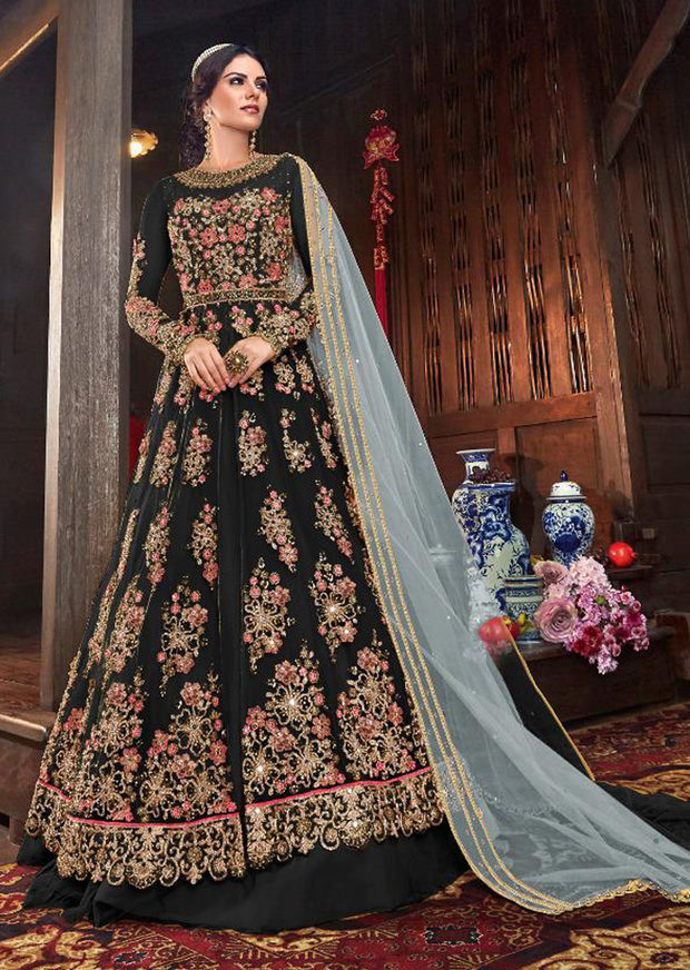 A - Unstitched - Indian Ethnic indo Western style Dress - Memsaab Online