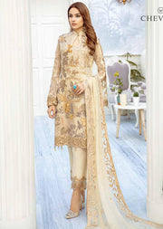 Blush Galore - Unstitched Chiffon Suit - Chevron Vol 2 Ramsha - Memsaab Online