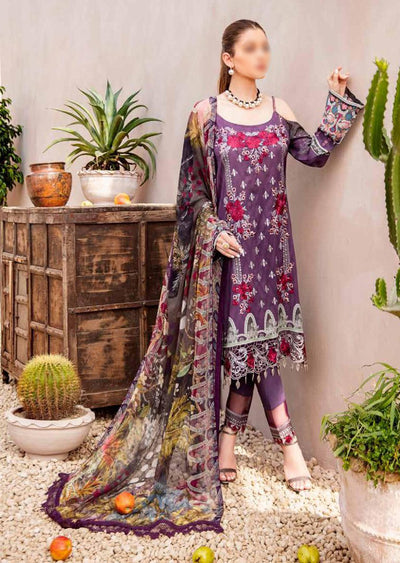 C-407 Unstitched Chevron Luxury Lawn Collection Vol 4 - Memsaab Online