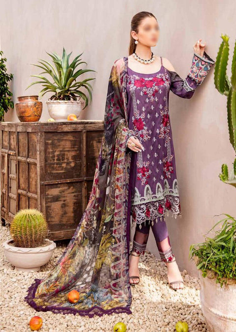 C-407R Readymade Chevron Luxury Lawn Collection Vol 4 - Memsaab Online