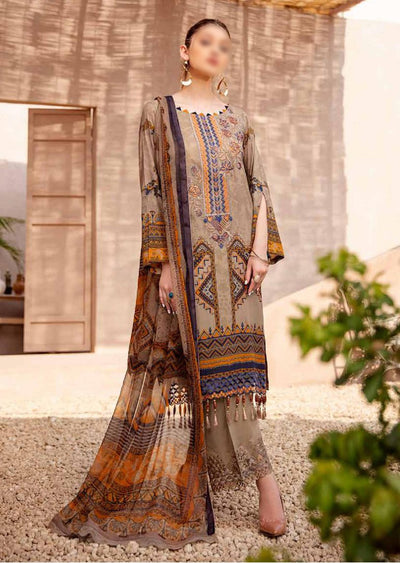 C-409 Unstitched Chevron Luxury Lawn Collection Vol 4 - Memsaab Online