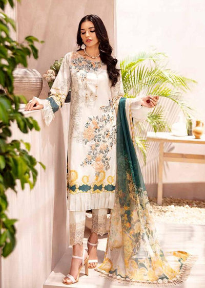 C-411R Readymade Chevron Luxury Lawn Collection Vol 4 - Memsaab Online