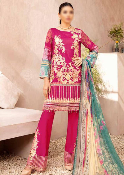 C-412 Unstitched Chevron Luxury Lawn Collection Vol 4 - Memsaab Online