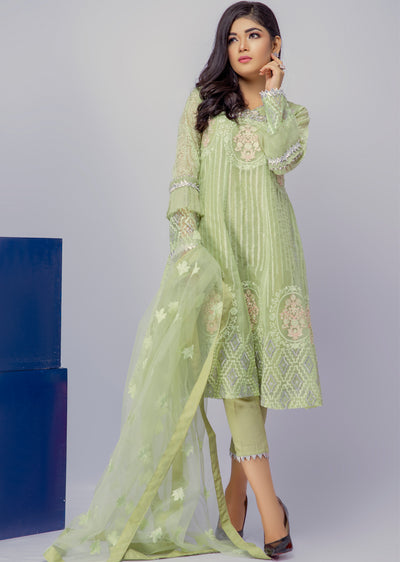 Valkeyri - Green - Eternal by Memsaab - Ready to Wear Pakistani Designer Suit with handwork - Memsaab Online