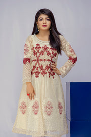Saffron - Off White - Eternal by Memsaab - Ready to Wear Pakistani Designer Suit with handwork - Memsaab Online