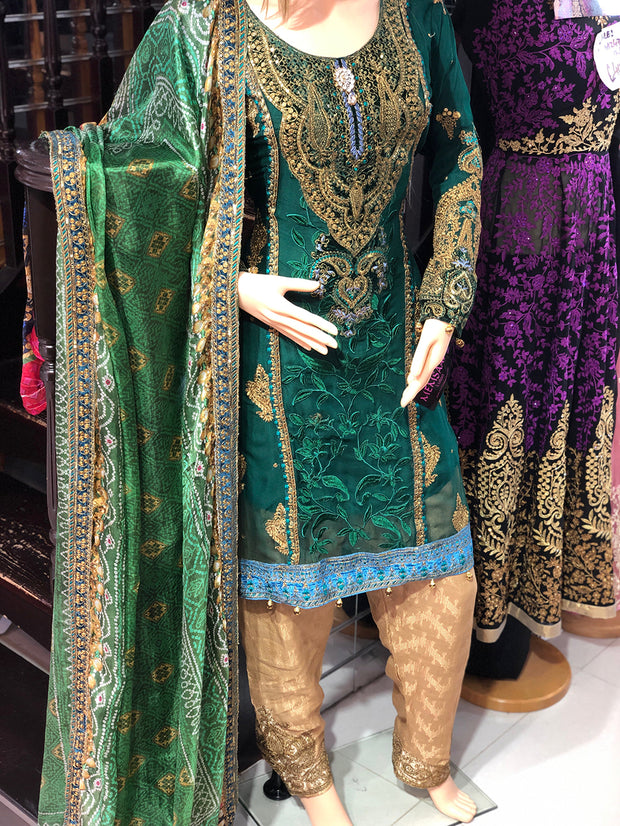 Maria B Inspired Inspired Readymade Suit - Pakistani Designer Fancy Chiffon Readymade Embroidered Suit - Memsaab Online