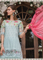 D1 Maria B Lawn Eid Collection 2019 - Unstitched Pakistani Designer Embroidered Suit - Memsaab Online