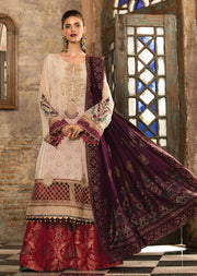 D2 Maria B Lawn Eid Collection 2019 - Unstitched Pakistani Designer Embroidered Suit - Memsaab Online