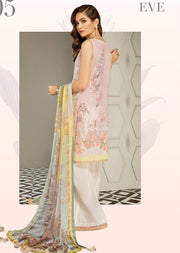 D5 Baroque Premium Lawn Embroidered Eid Collection - Pakistani Designer Wear Unstitched suits - Memsaab Online