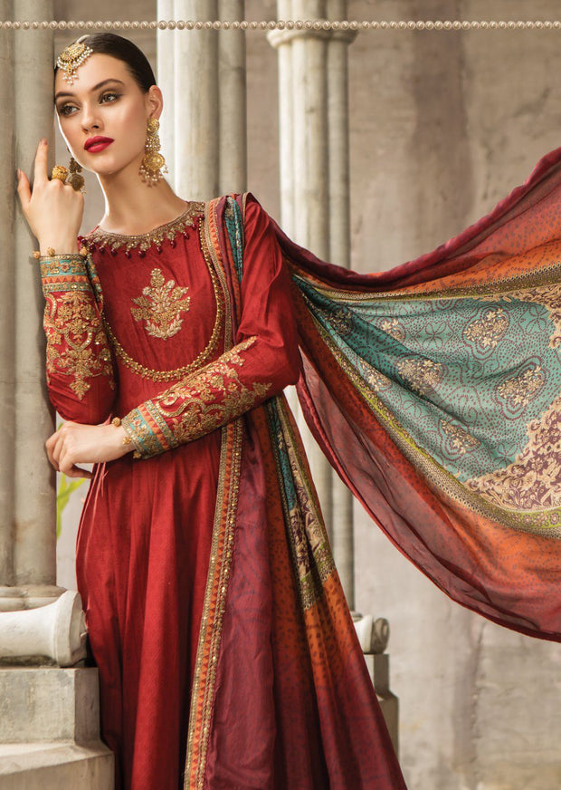 D5 Maria B Lawn Eid Collection 2019 - Unstitched Pakistani Designer Embroidered Suit - Memsaab Online