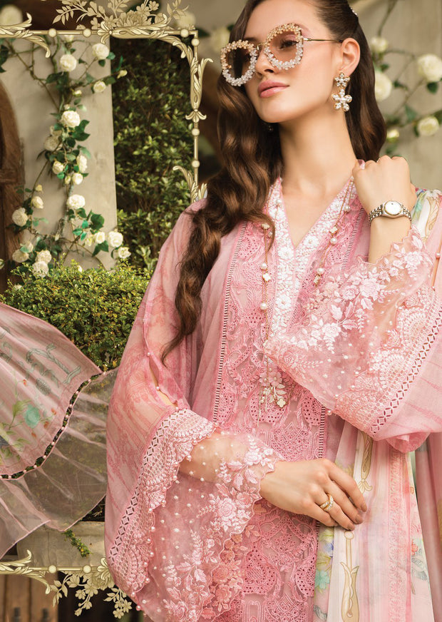 D6 Maria B Lawn Eid Collection 2019 - Unstitched Pakistani Designer Embroidered Suit - Memsaab Online