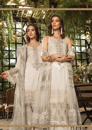 D7 Maria B Lawn Eid Collection 2019 - Unstitched Pakistani Designer Embroidered Suit - Memsaab Online