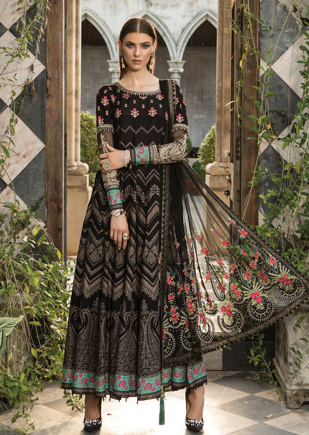 D9 Maria B Lawn Eid Collection 2019 - Unstitched Pakistani Designer Embroidered Suit - Memsaab Online