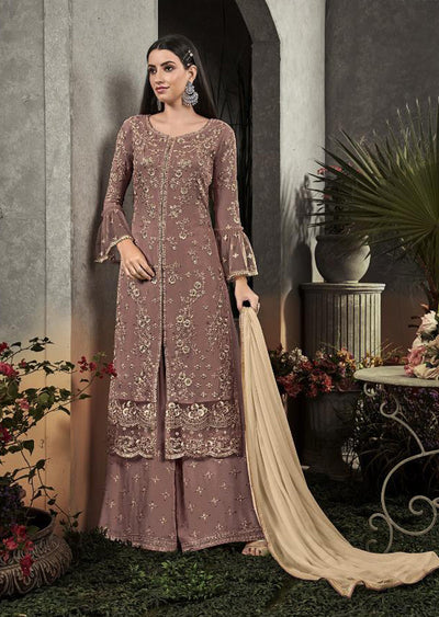 A - Unstitched Sybella Inspired Georgette Suit - Memsaab Online