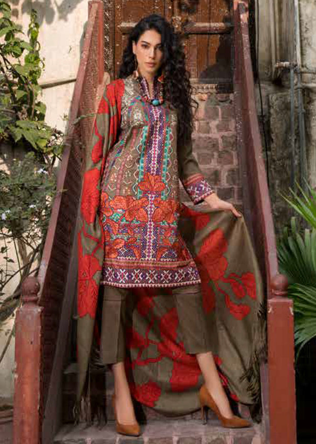 ESHT511 Eshaaisha TWILL / KHADDAR / KARANDI EMBROIDERED COLLECTION 2018