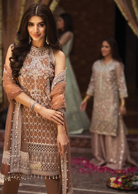 Eva - Anaya by Kiran Chaudhry - Festive Collection 2019 - Unstitched Pakistan Designer Embroidered Lawn Original Suit - Memsaab Online