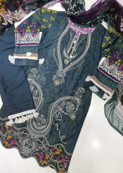 02 Fareesa - Iris Readymade Embroidered Lawn Collection Vol 2 by Jazmin - Memsaab Online
