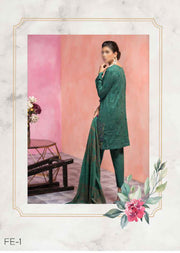 Unstitched - Green Florent Luxury Summer Suit 2020 - Memsaab Online