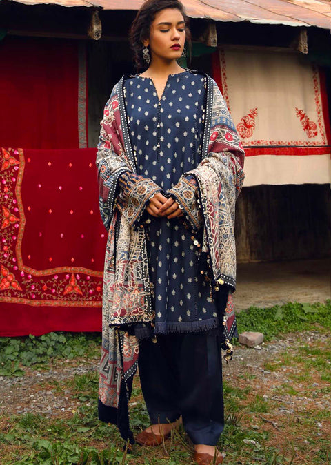 Feroza - readymade - Zara Shahjahan Inspired Pakistani Winter Shawl Collection salwar kameez - Memsaab Online