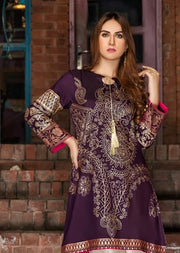 Golden Hour - Readymade Purple Cotton Kurti by Garnet - Memsaab Online