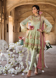MP-130 Maryam's Readymade Floral Mint - Memsaab Online