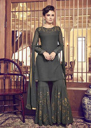 Grey Unstitched Violet Inspired Sharara Suit - Memsaab Online