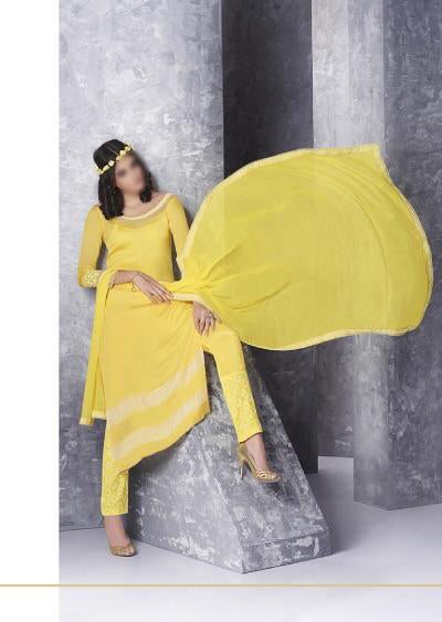 yellow Haya chiffon collection - Memsaab Online