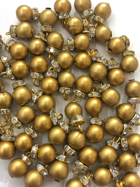 X17 - 4 x Beads - Pakistani Indian ethnic Beads Hangings Embellishments Pearls - Memsaab Online