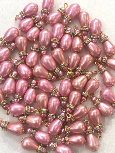X19 - 4 x Beads - Pakistani Indian ethnic Beads Hangings Embellishments Pearls - Memsaab Online