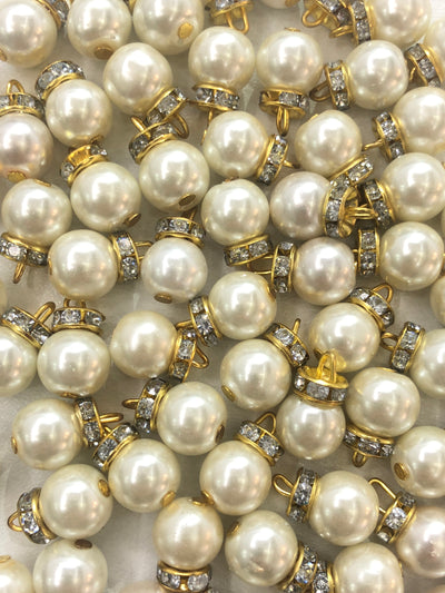 4 x Beads - Pakistani Indian ethnic Beads Hangings Embellishments Pearls - Memsaab Online